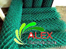 Pvc Coated Chain Link Fencing Security Fencing Wire Mesh